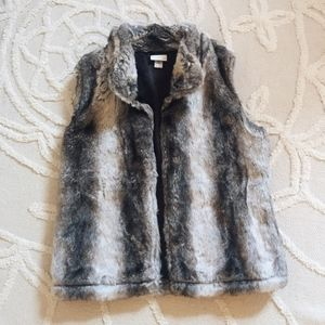 Capelli of New York Faux Fur Vest
